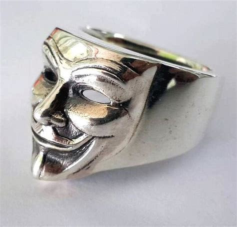 925 Sterling Silver V For Vendetta ring All by