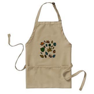 Autumn Leaves Design on Standard Apron