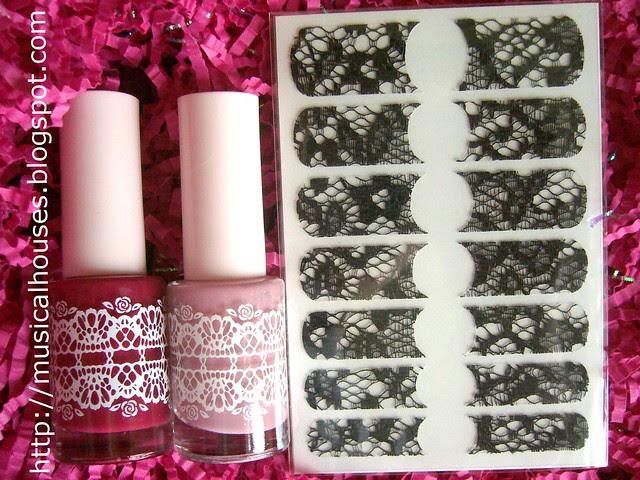 Etude House Rose Flowering Nails Set 2
