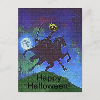 Headless Horseman in the Blue Light Postcard