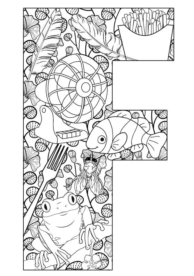 Free Printable Letter F Coloring Pages  Coloring Home