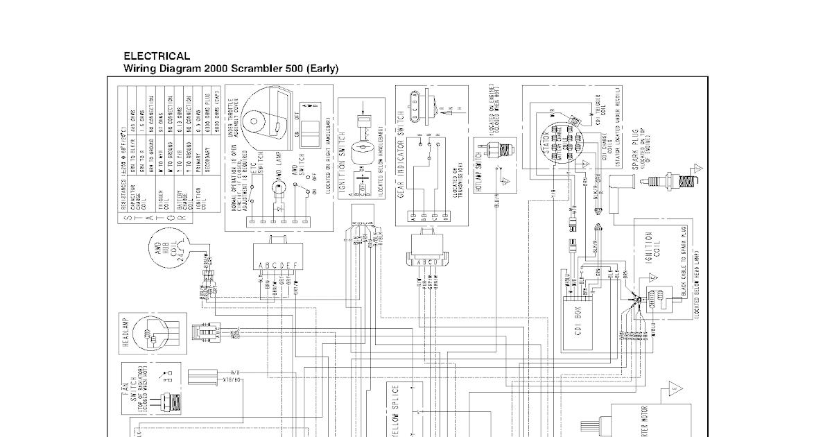 99 Polari Scrambler 500 Wiring Diagram