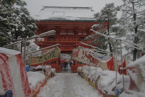 Ana-Hachimangu in snow