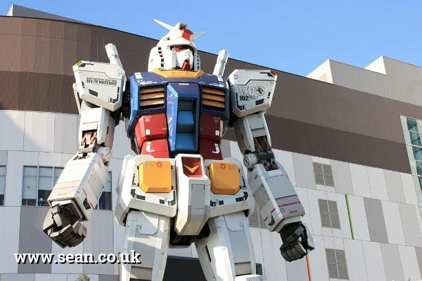 A giant Gundam Robot in Tokyo