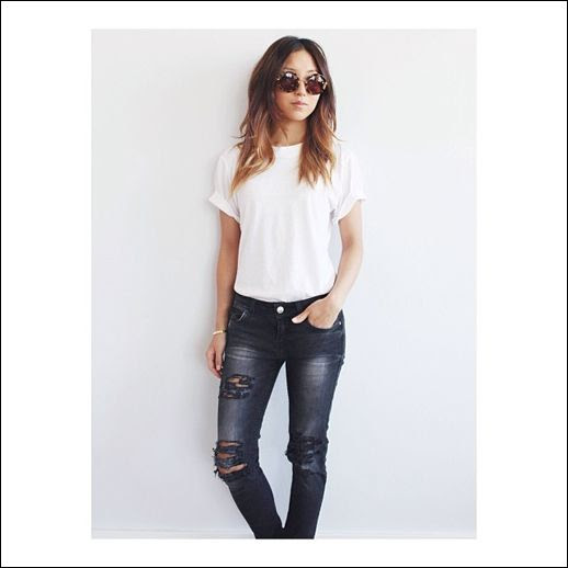 LE FASHION JAZZI MCGILBERT SIX TWENTY CREW NECK BODYSUIT PINK HORRORSHOW FRNCES KWON BLOGGER STYLE EFFORTLESS TUCKED IN WHITE TEE TSHIRT DISTRESSED DENIM JEANS ROUND TORT MIU MIU RETRO NOIR SUNGLASSES 1 photo LEFASHIONJAZZIMCGILBERTSIXTWENTYCREWNECKBODYSUITPINKHORRORSHOW1.jpg