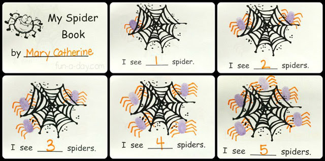 Spider Counting Book Image from Fun a Day