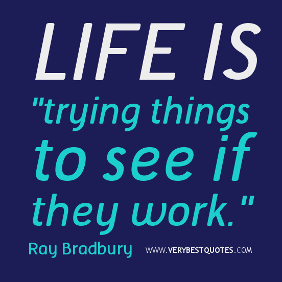 Life Is Trying Things To See If They Work Quotespicturescom