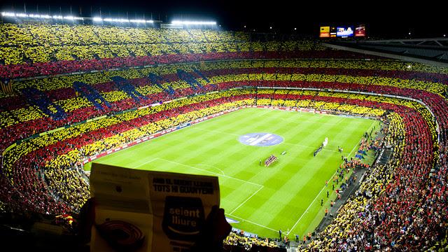 El mosaic del Camp Nou per al Clàssic / FOTO: ÁLEX CAPARRÓS - FCB