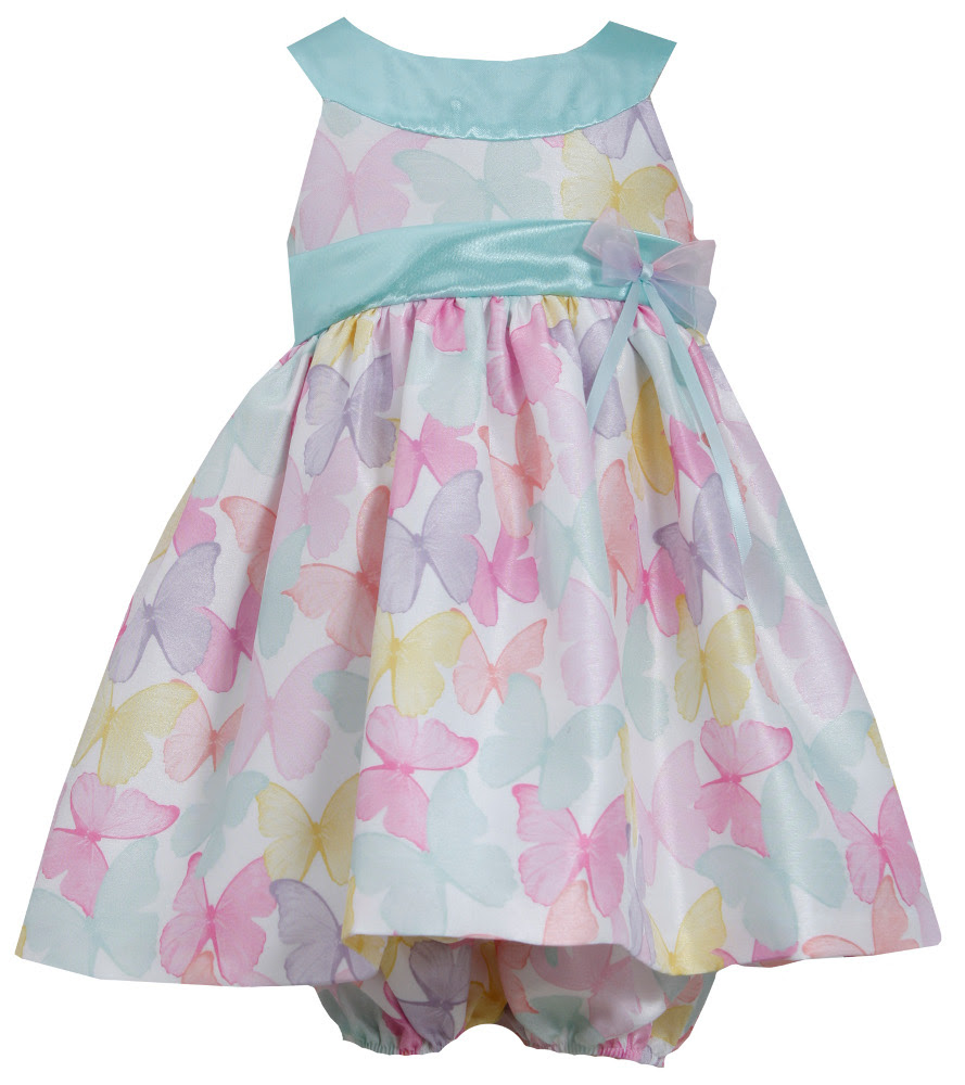 bonnie jean babygirls easter dress pastel shantung