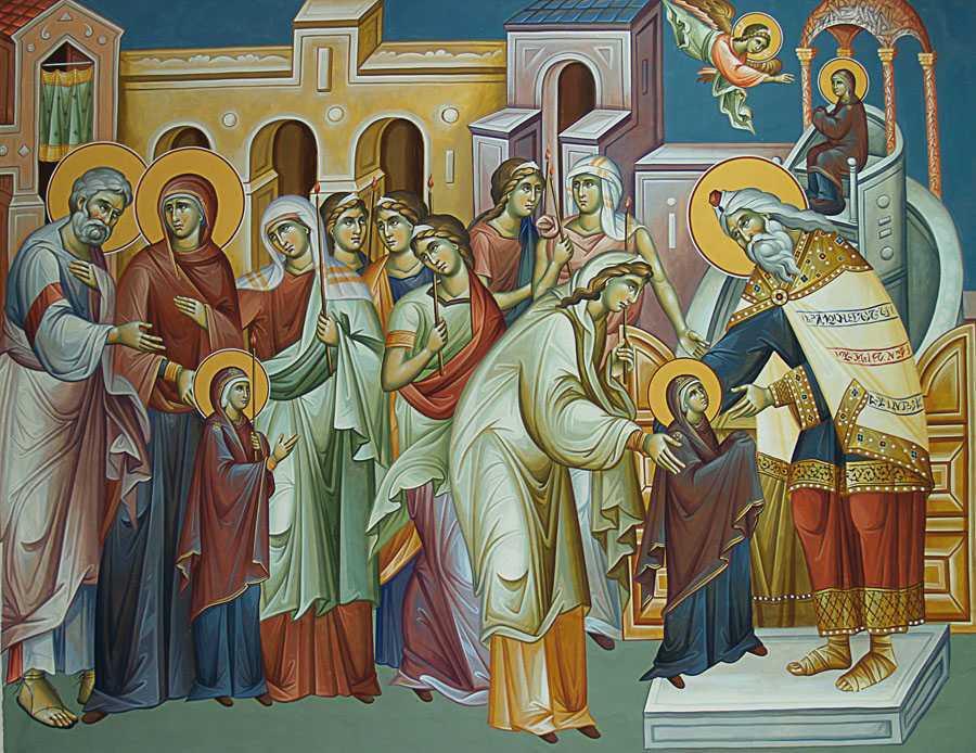 Αποτέλεσμα εικόνας για intrarea in biserica a maici domnului