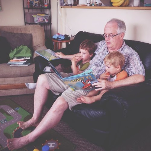 #vscocam Reading with Grampa