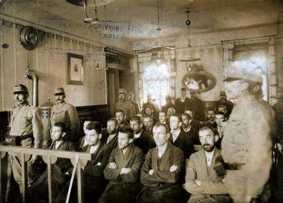 Sarajevo trial in 1914
