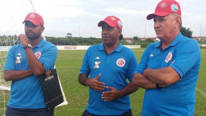 Severo Júnior, Carlos Moura e Vereador - América-RN (Foto: Canindé Pereira/Divulgação)