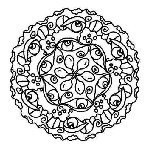 Mandala Boyama Sayfaları Komik Fipixde
