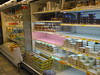 Egg and dairy shelves