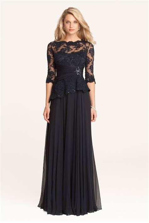 Teri Jon Lace and Chiffon Peplum Gown   Teri Jon   Wedding
