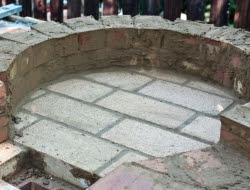 DIY Outdoor Kitchen and Pizza Oven - Mortar from the bricks