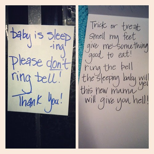 what my mom posted on the door // what I wanted to post on the door!