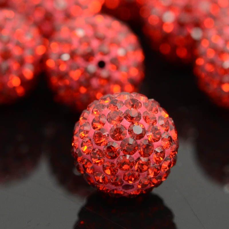 277860011010327 Swarovski Pave Ball - 10 mm Round - Indian Siam (1)