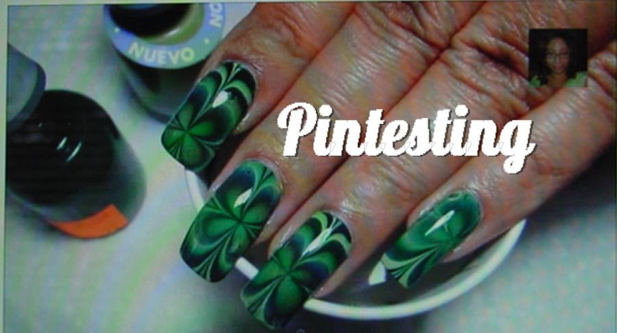 Four Leaf Clover Water Marble Nail Art Tutorial