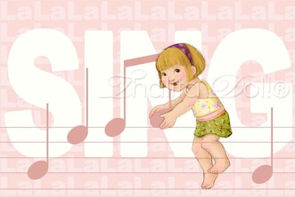 Complete Set - I LOVE U, SING, HUG and DANCE flat notecards (Set of 12)