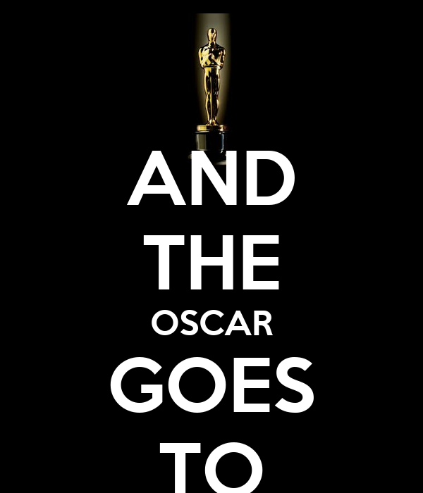 Risultati immagini per and the oscar goes to