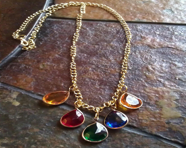 Opulence Lucite Teardrop Chain necklace