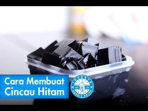 Cara Membuat Cincau Hitam Yang Kenyal | How Make Grass Jelly Recipe