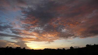 Island of Yap, Micronesia. Tropical Sunset.