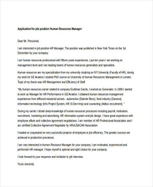 19 Job Application Letter Templates In Doc Free