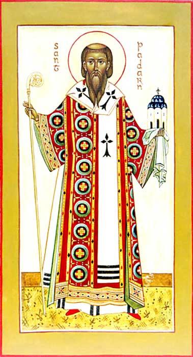 IMG ST. PATERNUS (Padarn) Founder of the Monastery of Llanbadarn Fawr, Wales