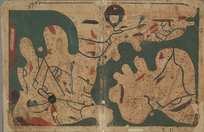 Rectangular world map from Islamic manuscript