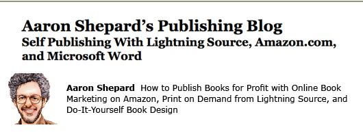 aaron shepard self-publishing aiming at amazon