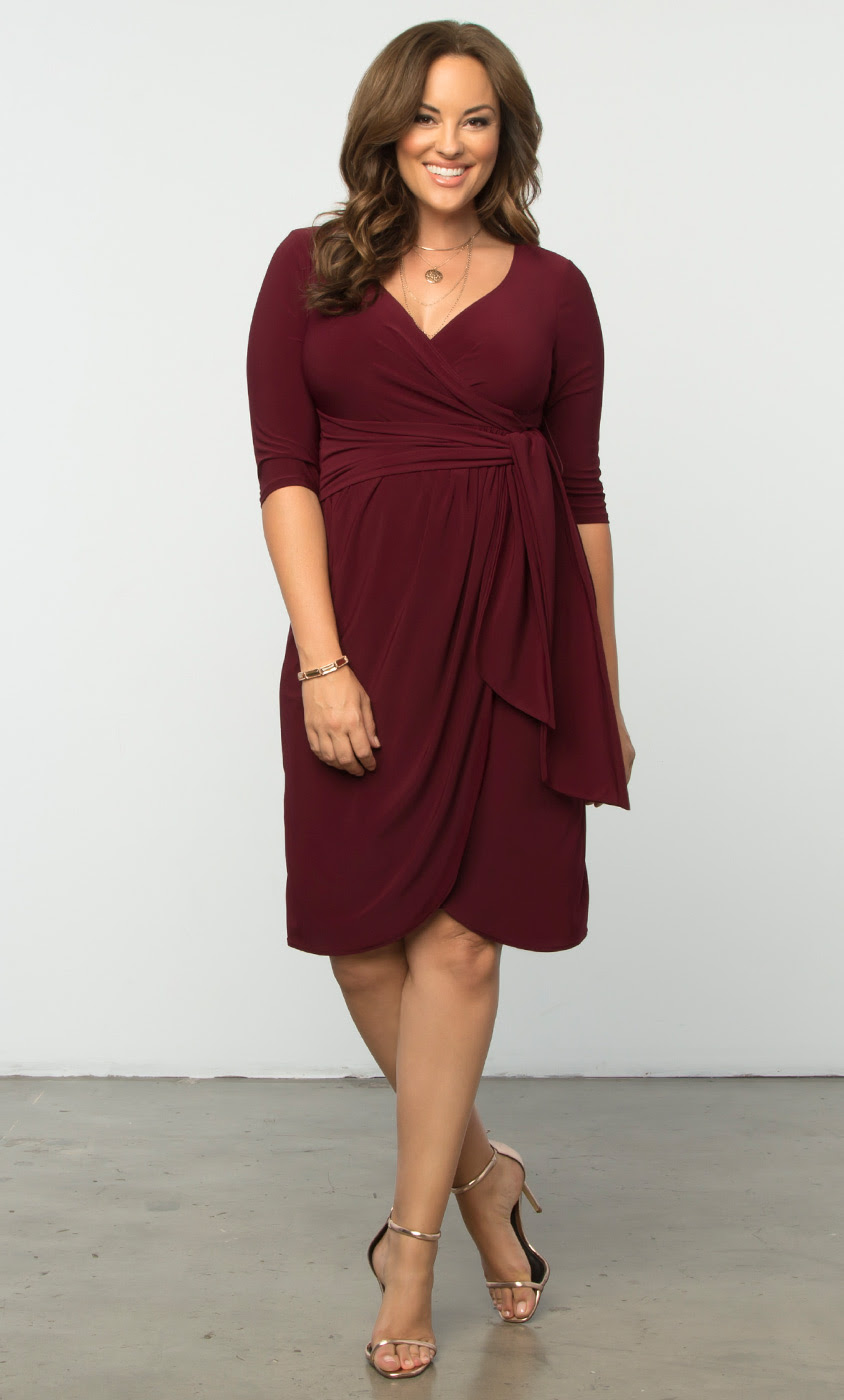 plus size formal dresses  harlow faux wrap  kiyonna