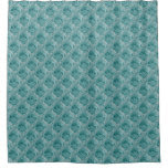 Aqua Rose, Floral Nature Photo and Satin Squares Shower Curtain