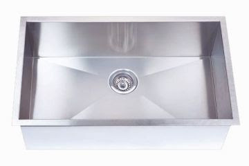 Undermount 32 Single Bowl Rectangle Stainless Steel Sink Jade