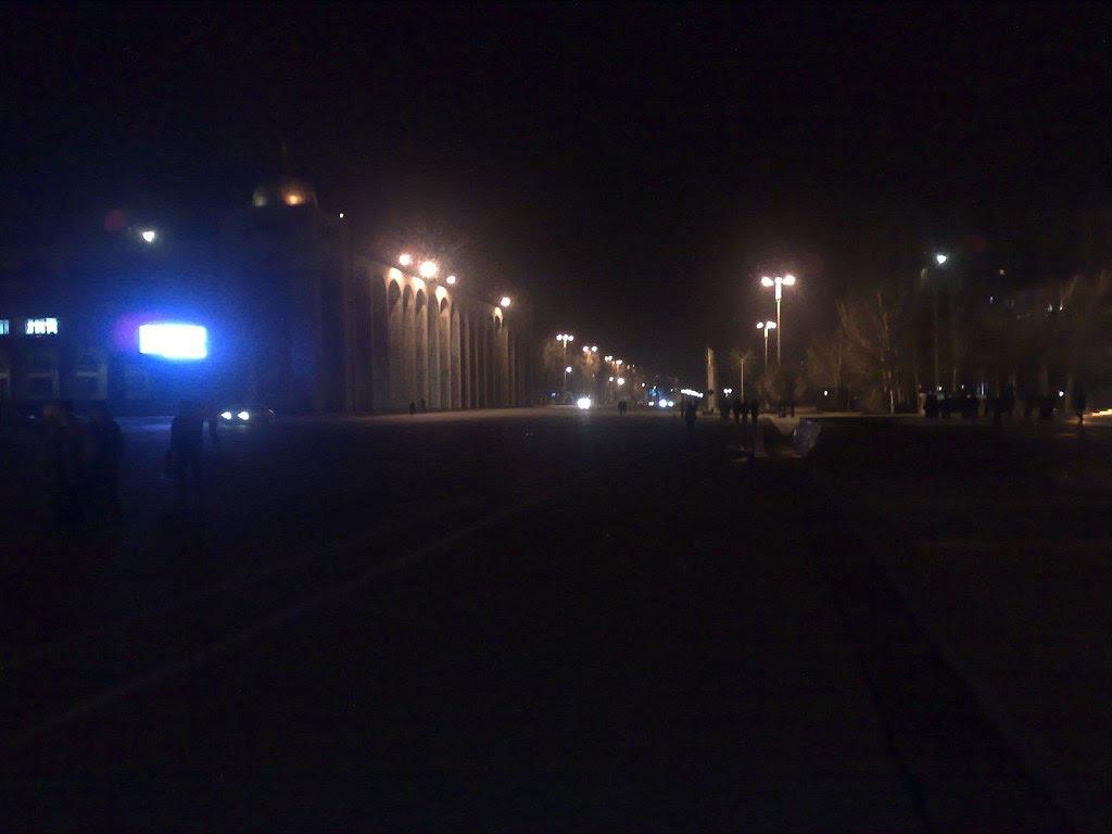 """The """"lights"""" of Bishkek, Kyrgyzstan"""