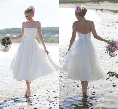 2015 Newest Fashion Summer Beach Short A line Wedding
