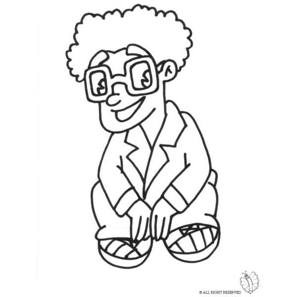 Disegno Di Bambino Con Occhiali Da Colorare Per Bambini