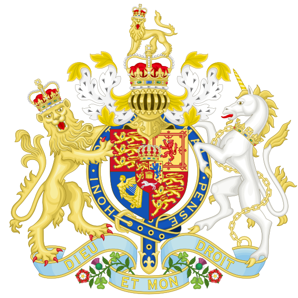 Archivo:Coat of Arms of the United Kingdom (1816-1837).svg