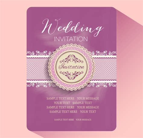 Editable wedding invitations free vector download (3,767