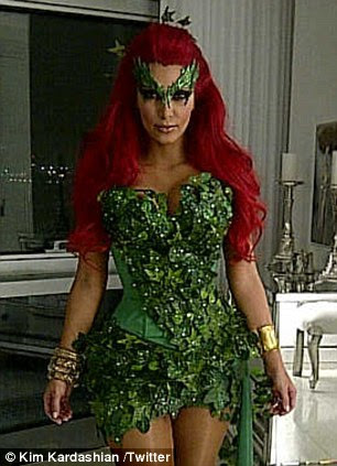 Popular choice: Kim Kardashian (left) and Julianne Hough (pictured right with brother Derek) both dressed as Poison Ivy from the Batman comics