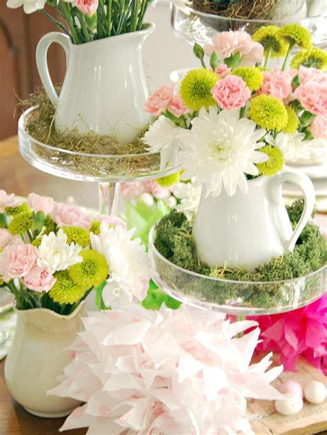 Colorful Spring Table Setting   Pedestal, Tea party