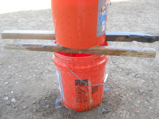 Buckets Stacked Ready for Pressing
