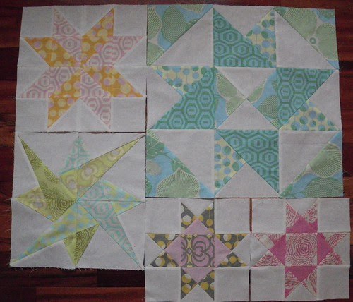 Mystery QAL - 5 blocks done