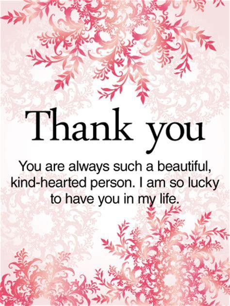 To a Kind Hearted Person   Thank You Card   Birthday