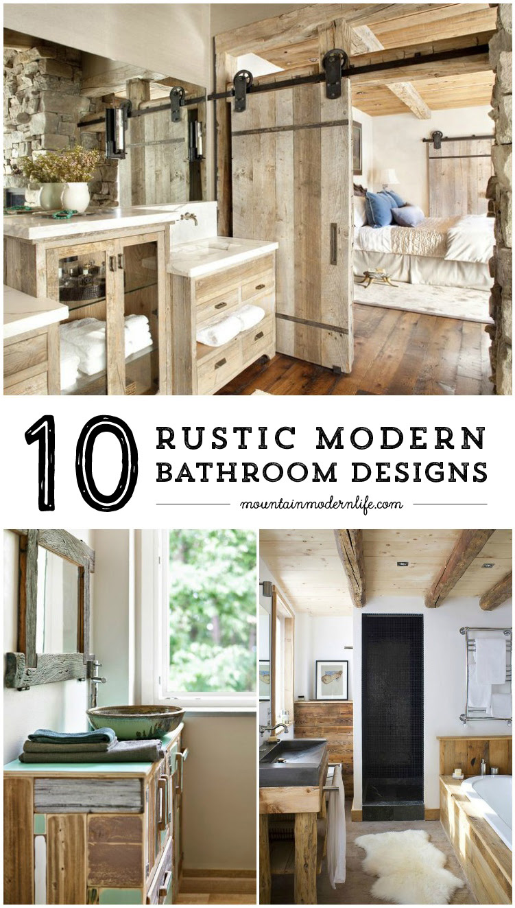Rustic Modern Bathroom Designs   Mountain Modern Life