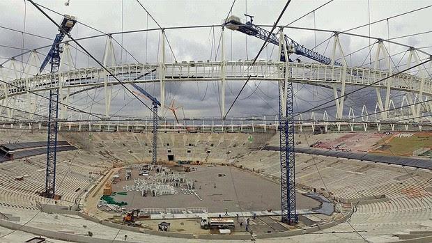 Obras estádio Maracanã copa 2014 (Foto: Arena)