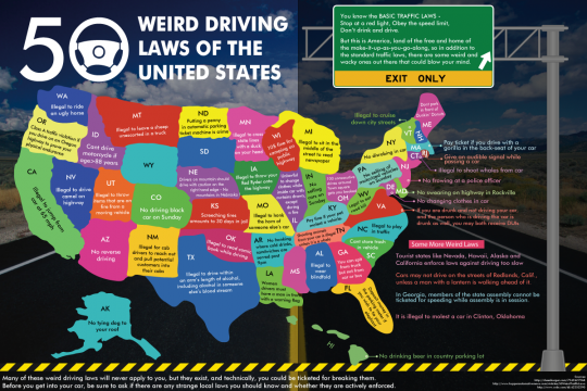 50 Weird Driving Laws of the United States