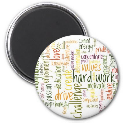 Motivational Words #2 fridge magnet Fridge Magnet